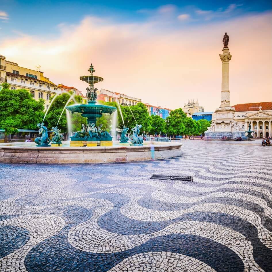 Rossio Square lisbone portugal