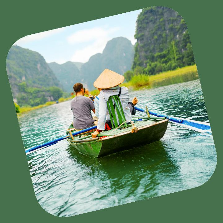 Ngo Dong River, Ninh Binh, Vietnam