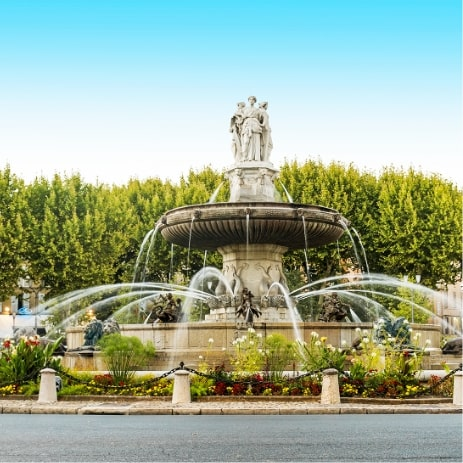 Fontaine rotonde, Aix en Provence, France